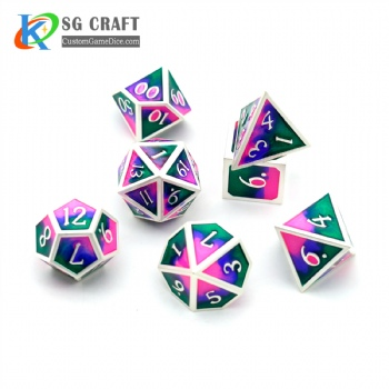 3 COLORS MIXED METAL DICE SET