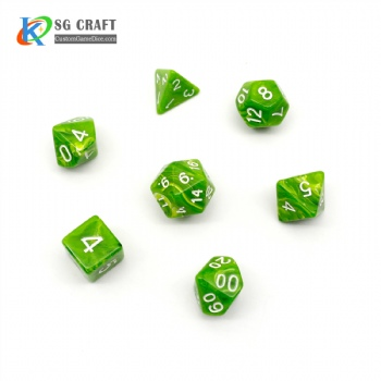 VORTEX GREEN PLASTIC DICE SET