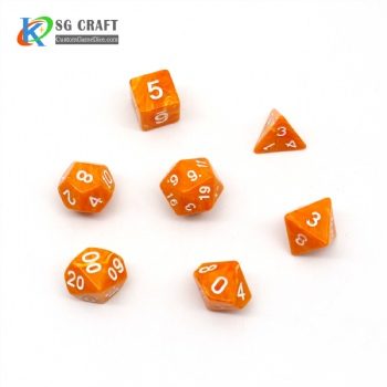 VORTEX ORANGE PLASTIC DICE SET
