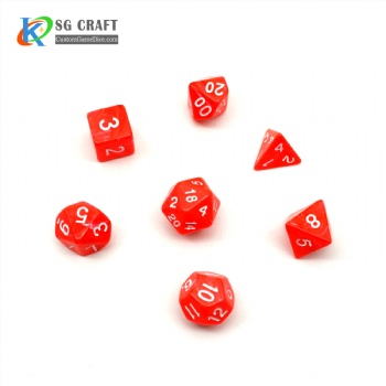 RED PLASTIC DICE SET