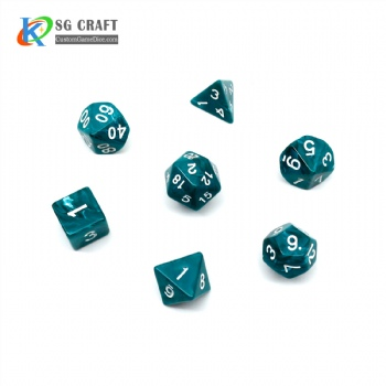 VORTEX DARK GREEN PLASTIC DICE SET