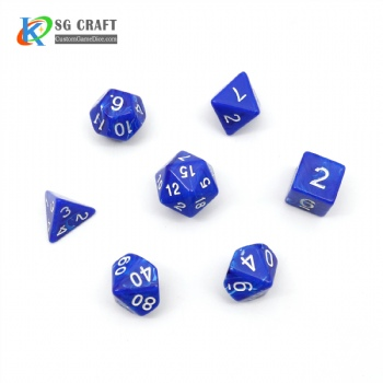 VORTEX BLUE PLASTIC DICE SET