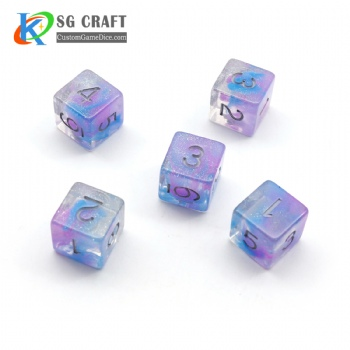 COLORFUL GLITTER PLASTIC DICE