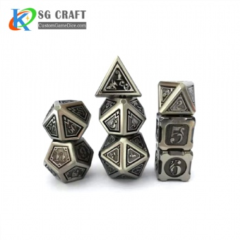 New Antique Silver Metal Dice