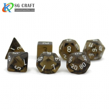 Tea coloured Dice