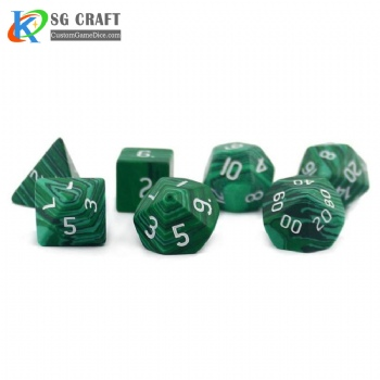 Malachite stone Dice
