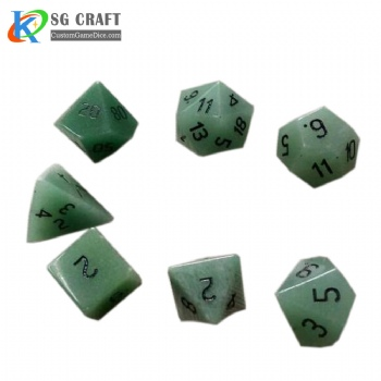 Natural Dongling stone dice set