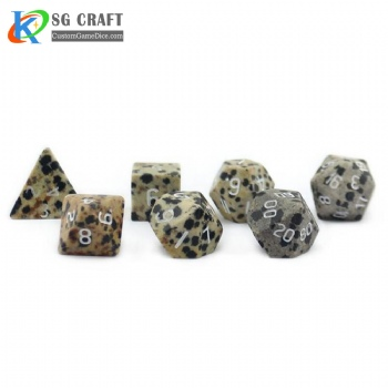 Natural Spotted Stone Dice set