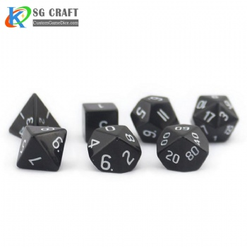 Natural Obsidian Stone Dice set
