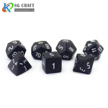 Blue Sand Stone Dice set