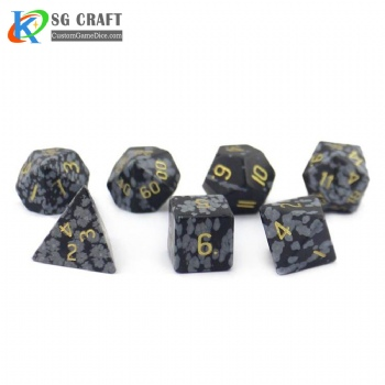 Natural Alabaster Stone Dice set