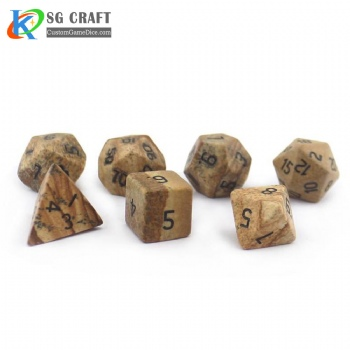 Natural landscape Stone Dice set