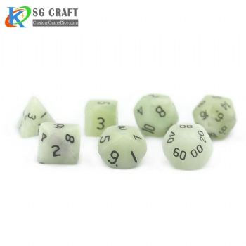 Natural New Mountain Jade Stone Dice set