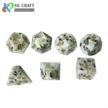Natural Tianlan stone Dice Set