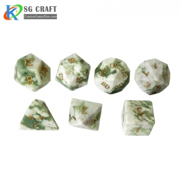 Natural Auspicious jade Dice Set