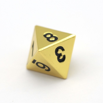 GOLD METAL D8 DICE