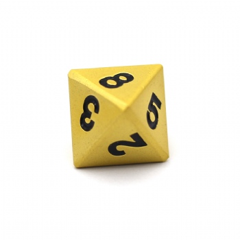 PEARL GOLD METAL D8 DICE