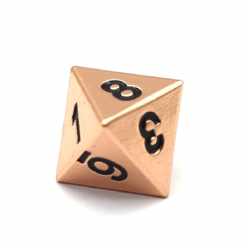 COPPER METAL D8 DICE