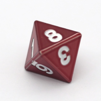 RED METAL D8 DICE