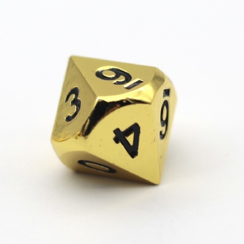 GOLD METAL D10 DICE