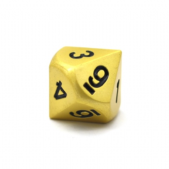 PEARL GOLD METAL D10 DICE