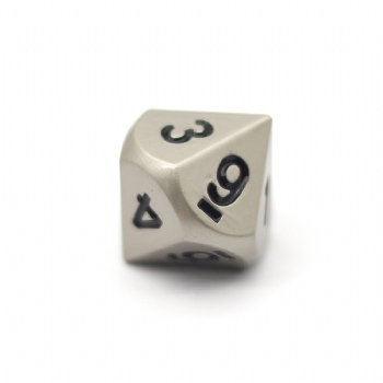 PEARL NICKEL METAL D10 DICE