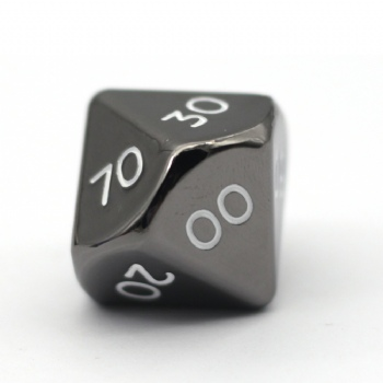 BLACK NICKEL METAL D10% DICE