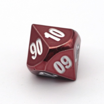 RED METAL D10% DICE