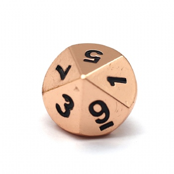 COPPER METAL D10 DICE