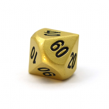 PEARL GOLD METAL D10% DICE