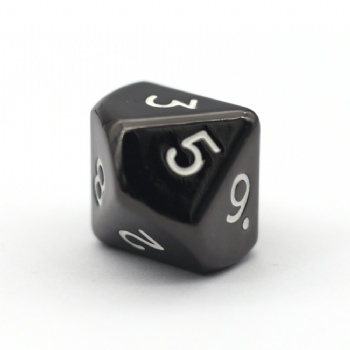 BLACK NICKEL METAL D10 DICE