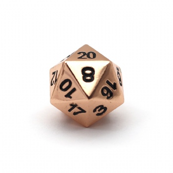 COPPER METAL D20 DICE