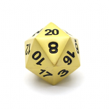 PEARL GOLD METAL D20 DICE