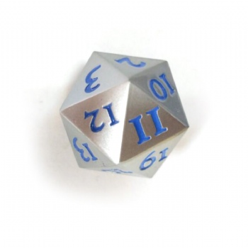 PEARL CHROME METAL D20 DICE