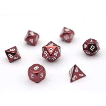 RED METAL DICE SET