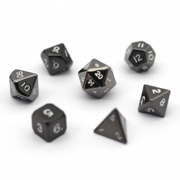 BLACK NICKEL METAL DICE SET