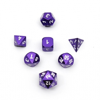 PURPLE METAL DICE SET