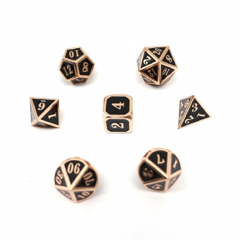 BLACK COLOR METAL DICE SET
