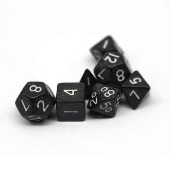 BLACK PLASTIC DICE SET