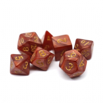 RED MARBLE DICE SET