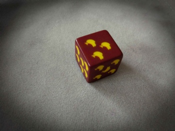RED PLASTIC D6 DICE