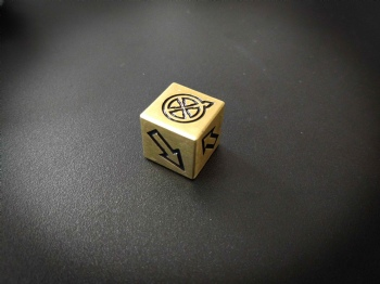 BRASS METAL D6 DICE