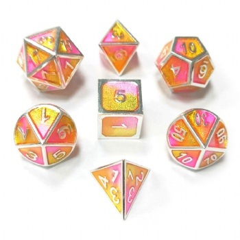 3 Colors Mixed Enamel Metal Dice