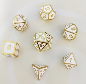 White Color Metal Dice