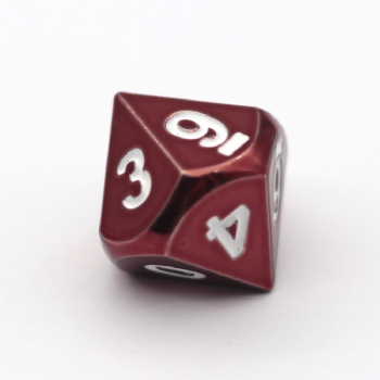 Red Metal D10 Dice
