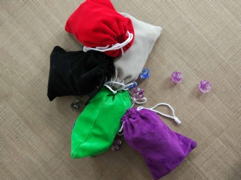 VARIOUS COLOR DICE BAG