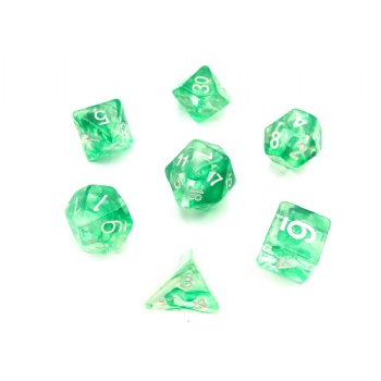NEBULA GREEN DICE SET