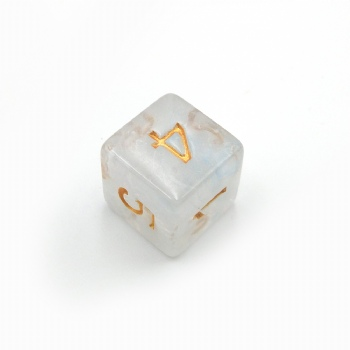 FROSTED CLEAR D6 DICE