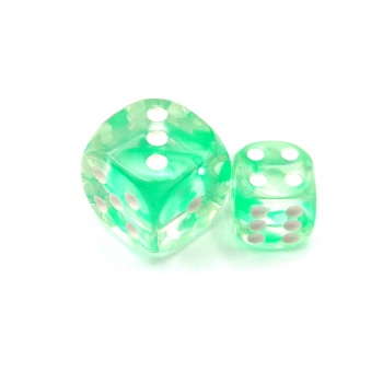 NEBULA GREEN D6 DICE
