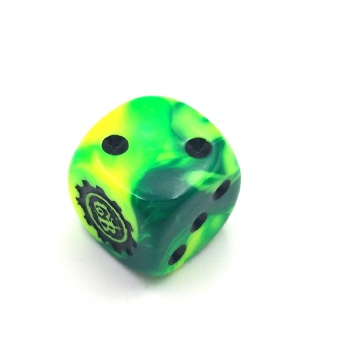 GREEN CUSTOM D6 DICE